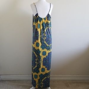 Anthropologie Dresses - Nieves Lavi NY Yellow/Purple Silk Twill Maxi Dress